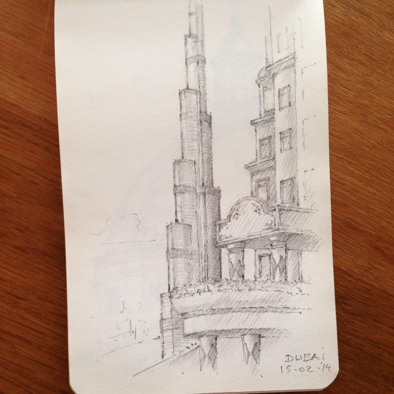 Burj Khalifa doodle